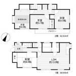 ■4LDK+小屋裏収納+車庫