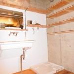 ■造作棚付き洗面室♪